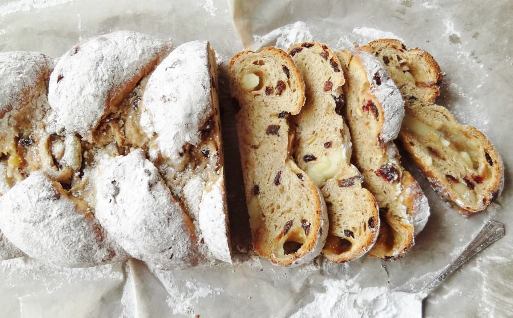 christmas plaited stollen