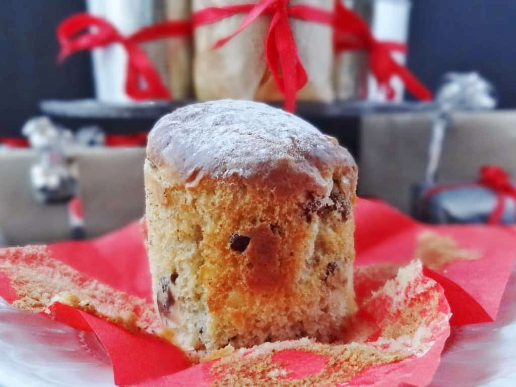 cranberry and ginger panettone
