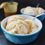 maple ice cream with maple caramel swirl