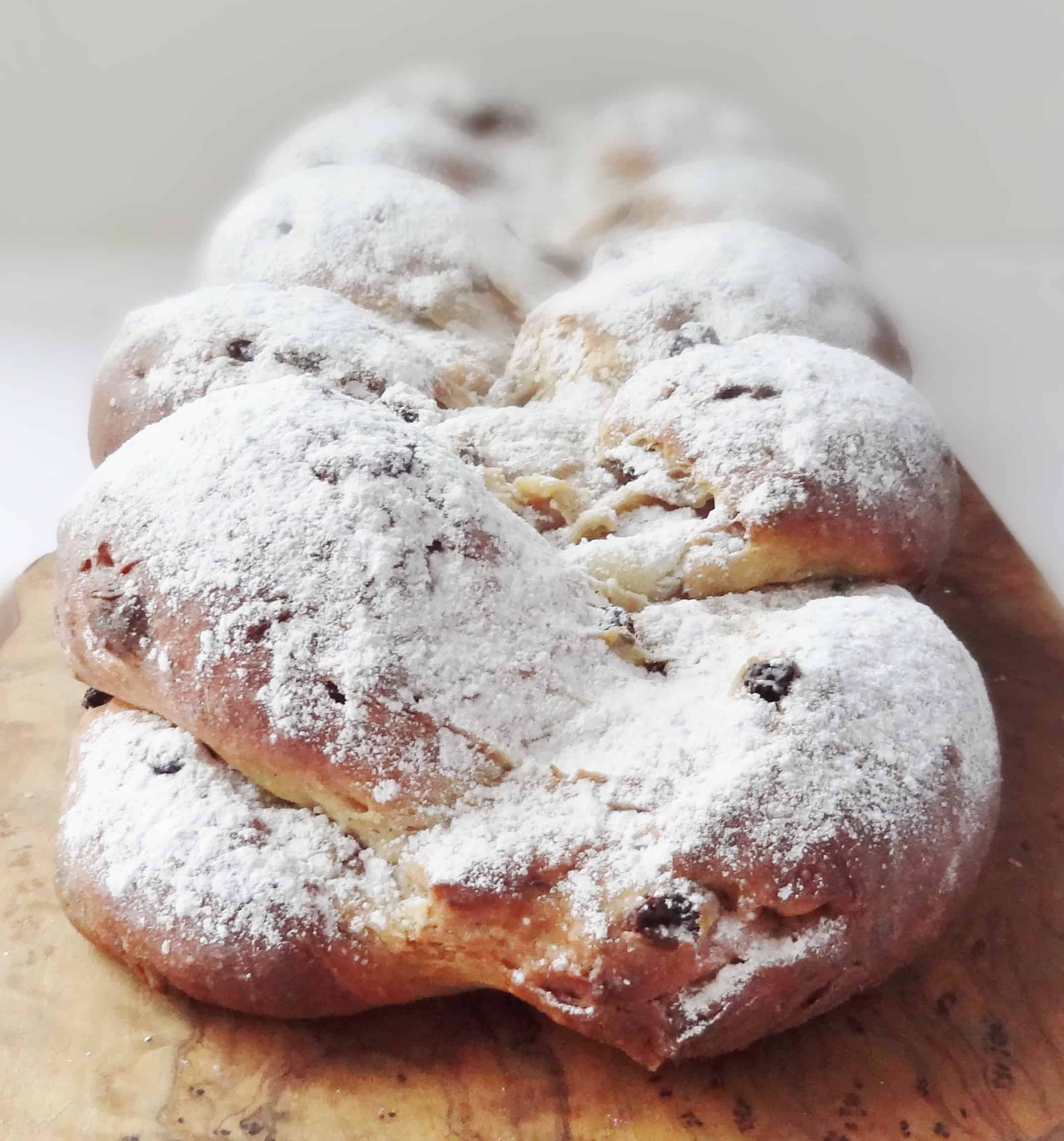 how to make stollen with marzipan