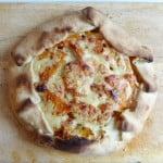 roasted butternut squash & garlic galette