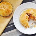 Butternut squash & goats cheese pies