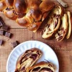 chocolate cherry challah braided bread