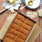 ginger and coconut flapjacks