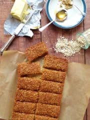 ginger coconut flapjacks