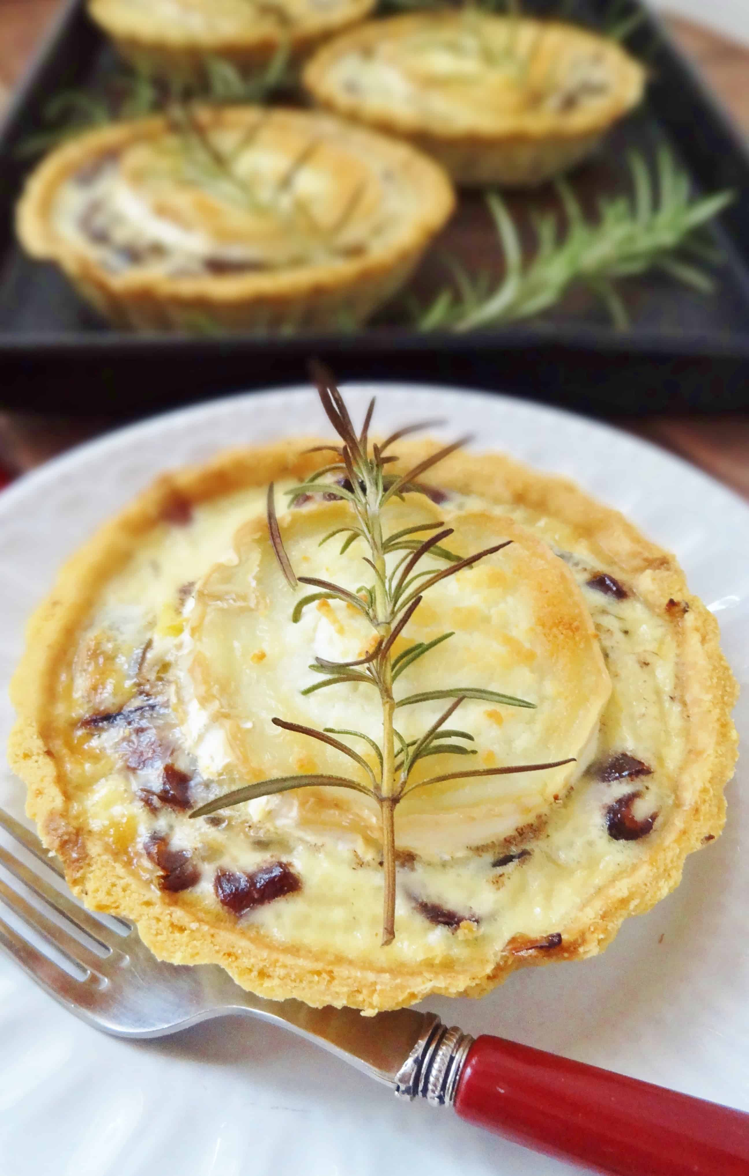Caramelised Red Onion And Goats Cheese Tarts Domestic