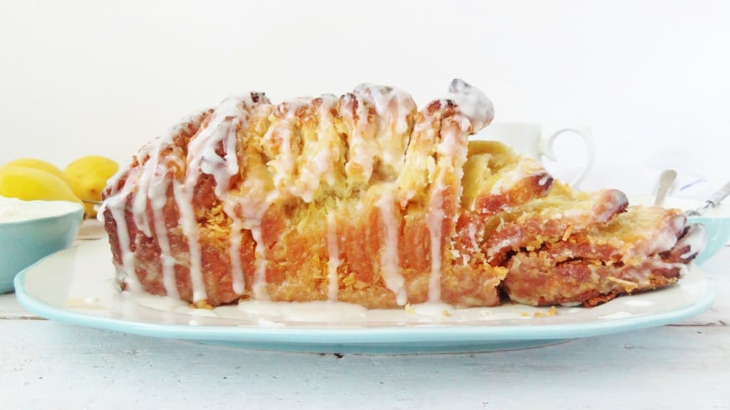 coconut lemon pull-apart bread loaf