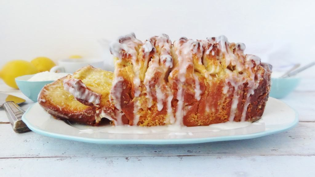 lemon coconut pull-apart coffee cake bread