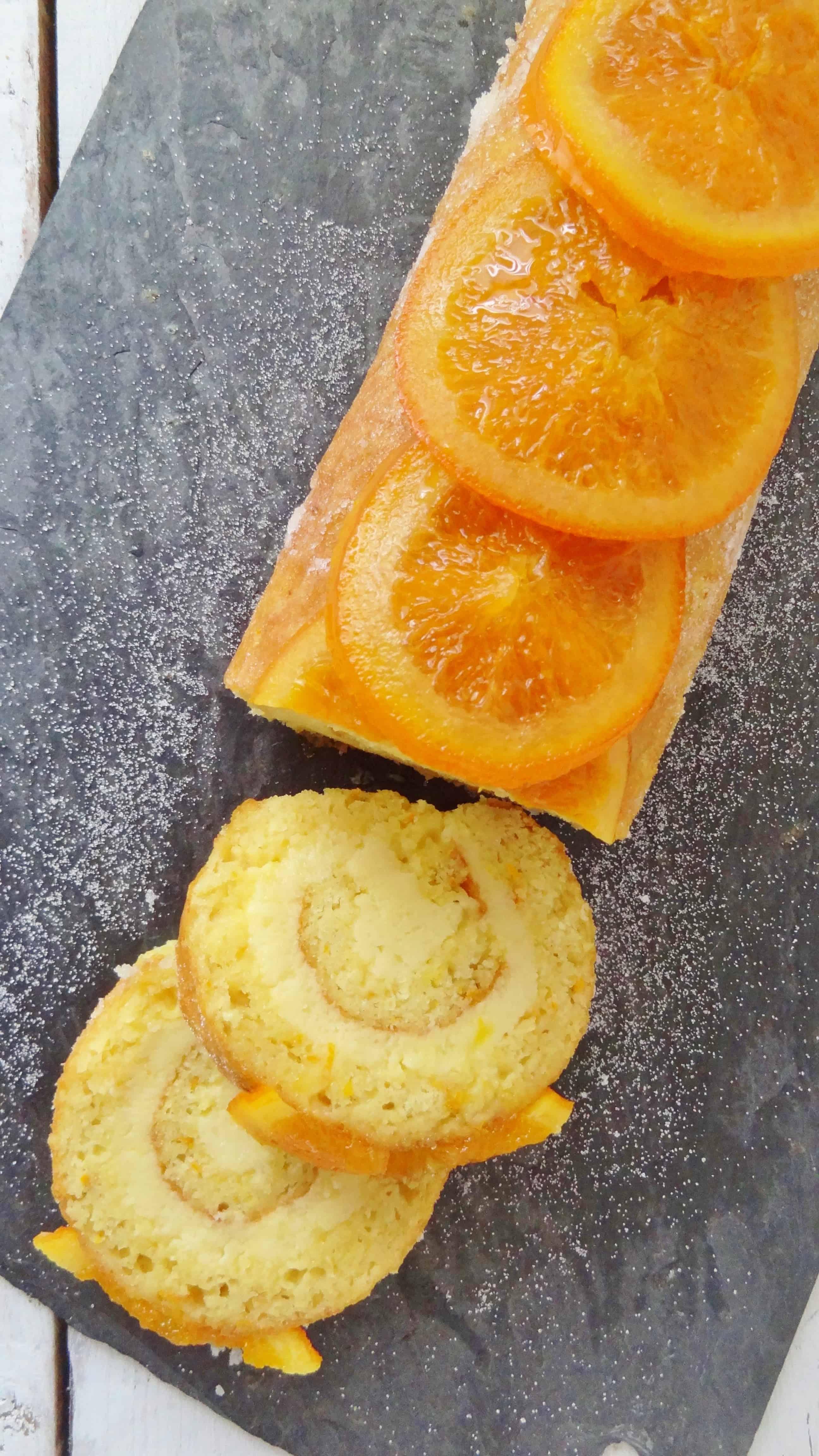 orange almond roulade