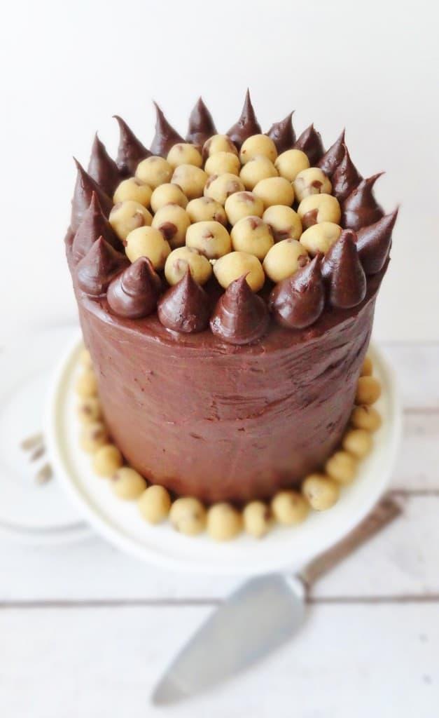 cookie dough chocolate brownie cake