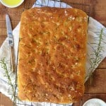herb and sea salt focaccia