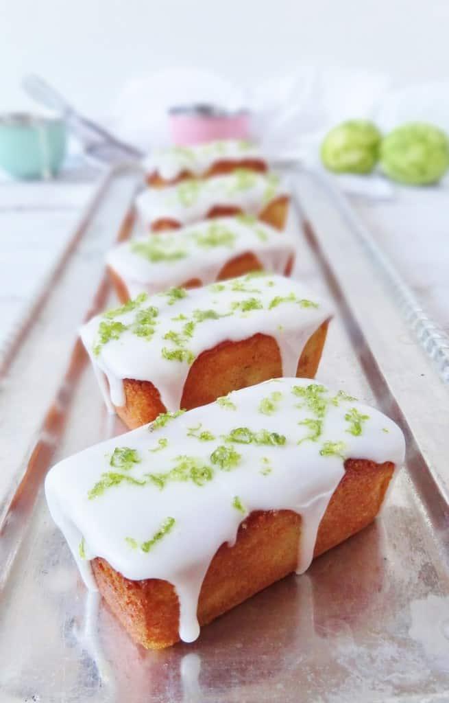 mini lime, yoghurt almond loaf cakes