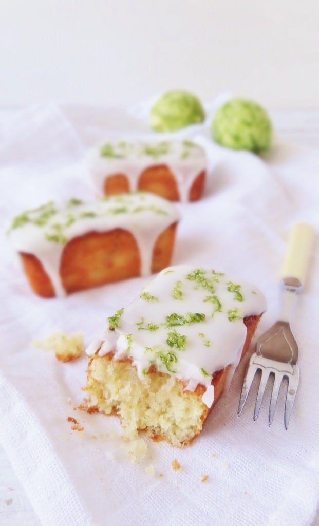 mini lime, yoghurt and almond loaf cakes