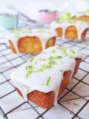 mini lime yoghurt loaf cakes