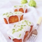 mini yoghurt and lime loaf cakes