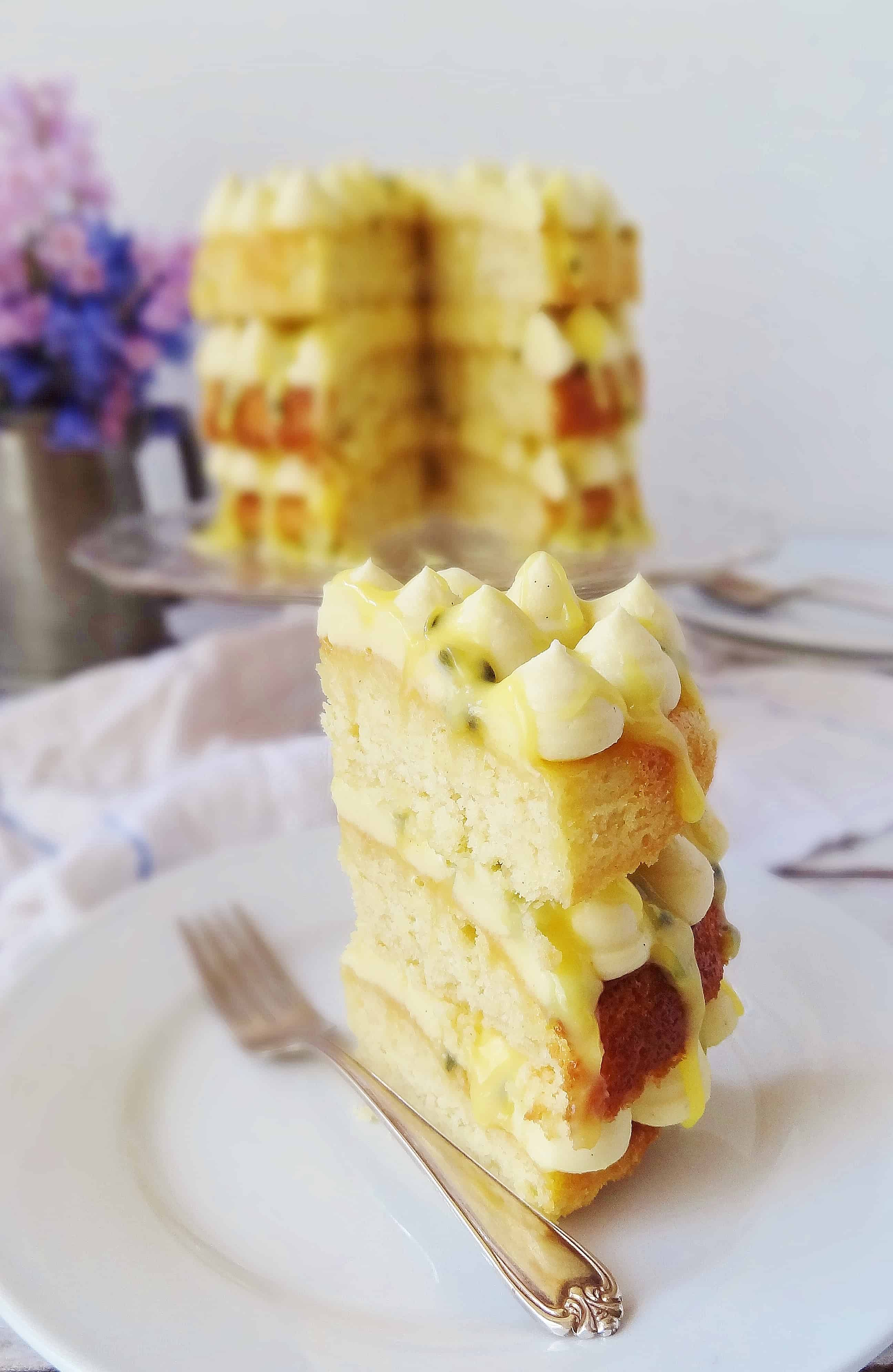 Passionfruit Curd Layer Cake