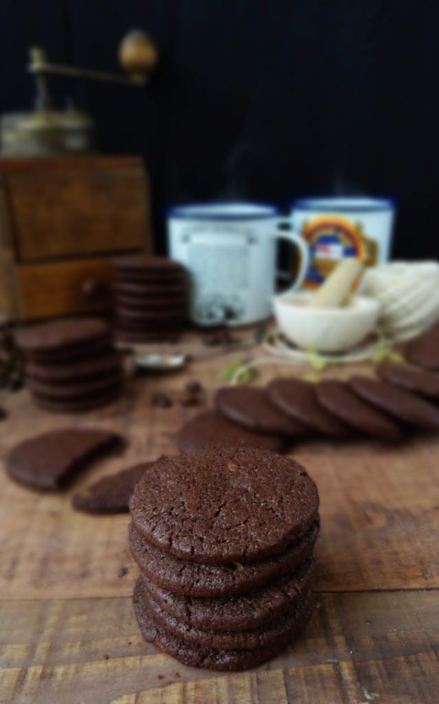 Chocolate, coffee & cardamom biscuits (cookies) - Domestic Gothess