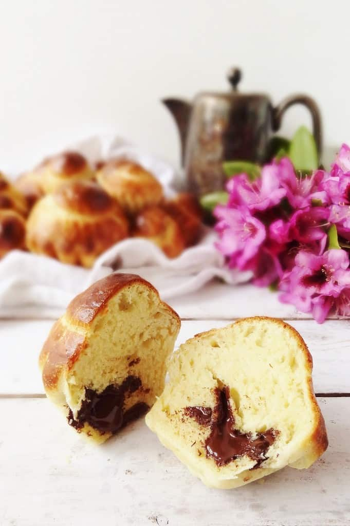 Mini chocolate filled vanilla bean brioche a tete