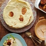 Vegan red lentil & bulgur wheat kofte with flatbreads & harissa yoghurt - Domestic Gothess