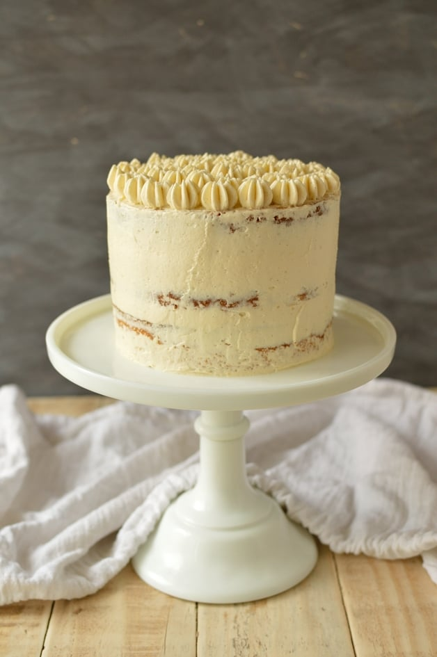 Very vanilla layer cake with cooked flour frosting - Domestic Gothess