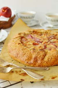 Nectarine & marzipan galette - Domestic Gothess