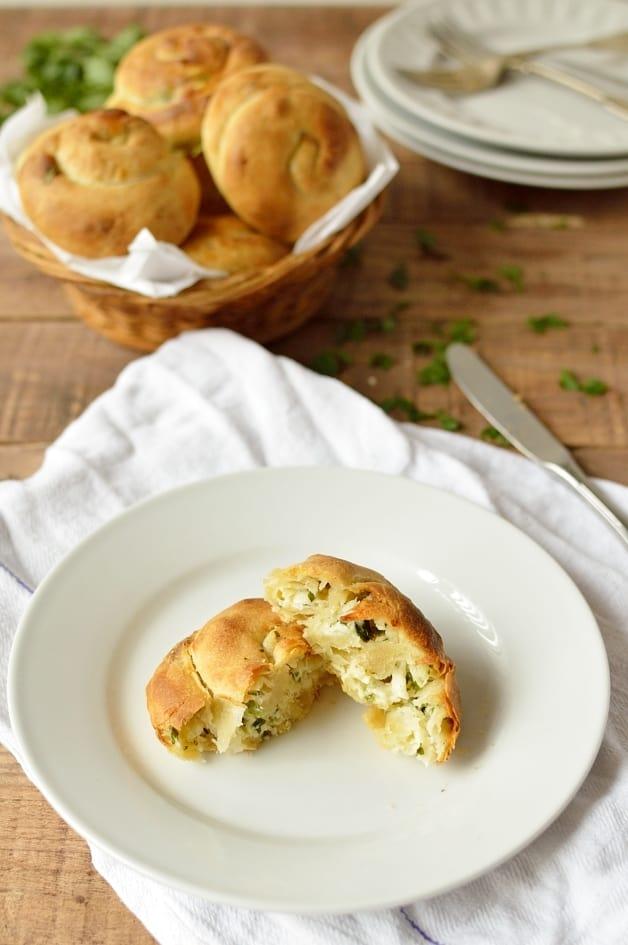 Yafawi Sfeeha - palestinian cheese buns - Domestic Gothess