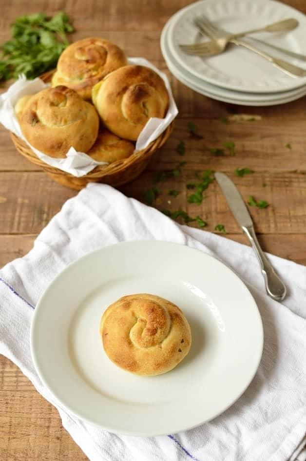 Yafawi sfeeha - Palestinian halloumi cheese buns - Domestic Gothess