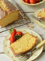 Lemon & cardamom sour cream pound cake - Domestic Gothess
