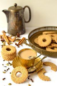 Masala chai spiced rye shortbread