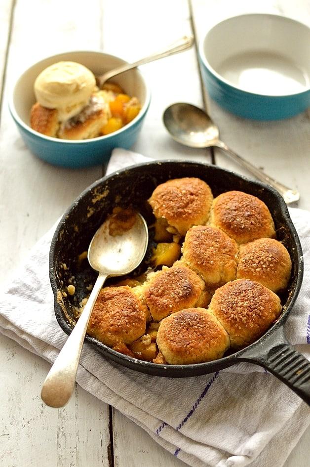 Mini peach cobbler - serves two people - Domestic Gothess