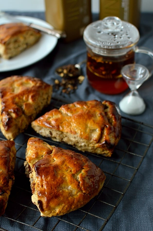 Apple, fig, pecan and honey scones - Domestic Gothess