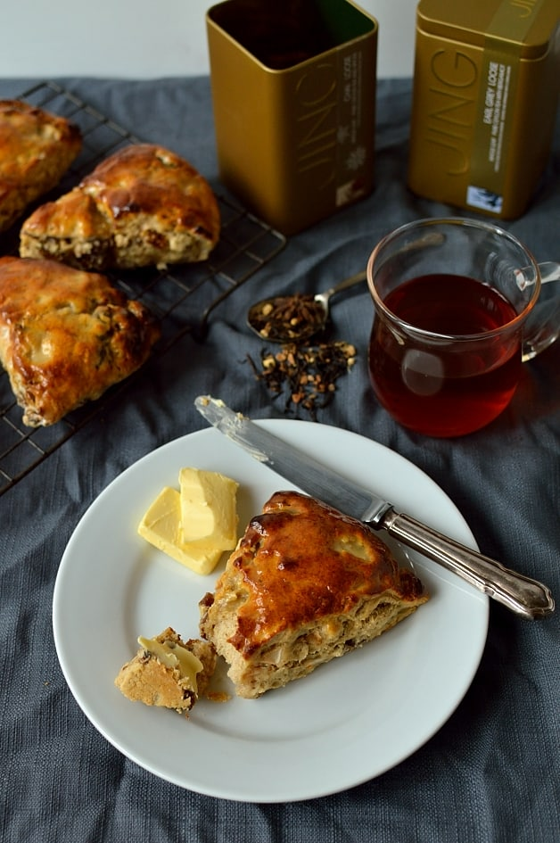 Fig, apple, pecan and honey scones with a hint of spice - Domestic Gothess