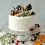 Gingered Christmas fruitcake with rustic decorations - Domestic Gothess