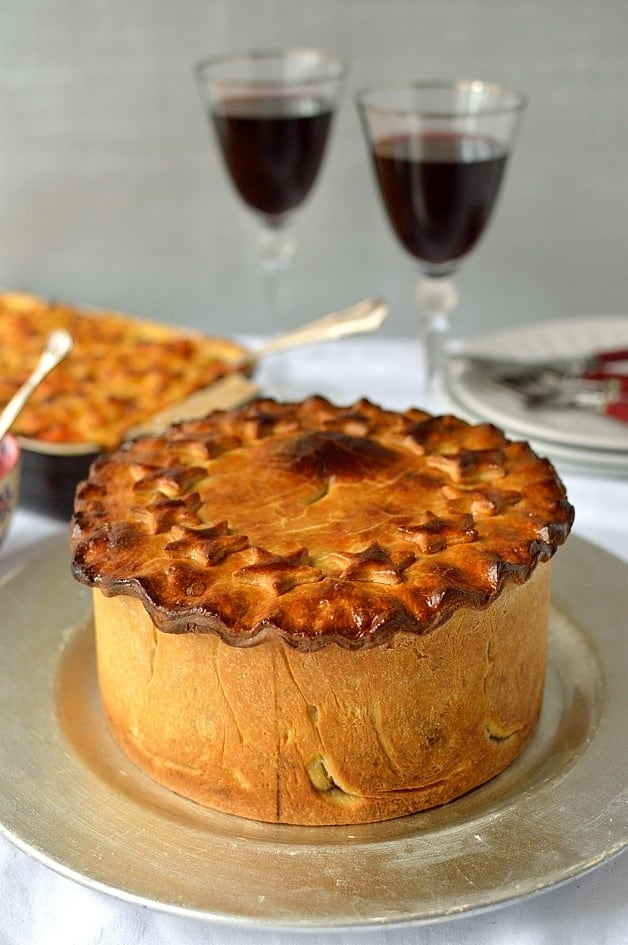 impressive hand raised vegetarian hot water crust pastry nut roast pie perfect for christmas - Christmas Pies