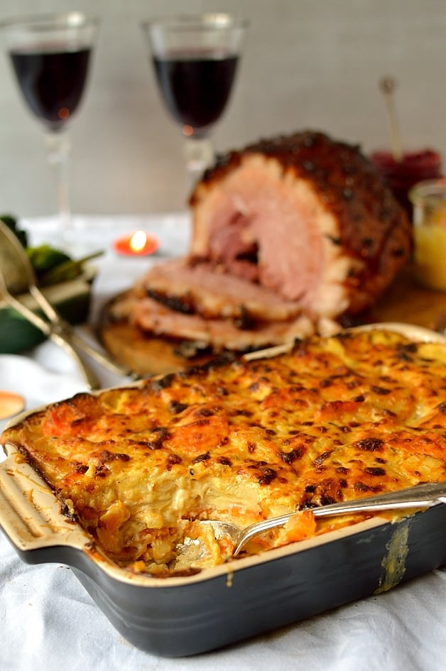 Root vegetable gratin, the perfect Christmas side dish