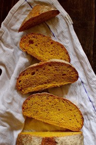Carrot and caraway seed bread loaf, perfect for sandwiches