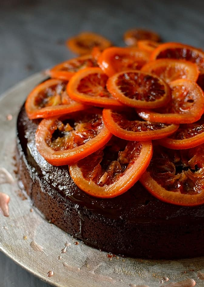 Chocolate, Olive Oil And Rosemary Cake With Candied Blood Oranges ...