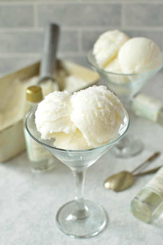 Gin and bitter lemon sorbet - a light, refreshing grown-up treat