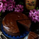 Chocolate stout cake with stout ganache