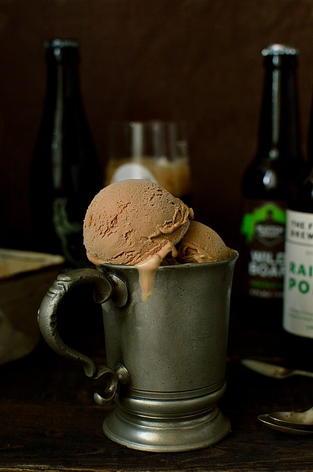 Chocolate porter (or stout) beer ice cream