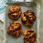 hokkaido milk bread soft chocolate twists