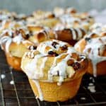 Mincemeat and marzipan cinnamon buns - and wonderful festive breakfast and great way of using up leftovers.
