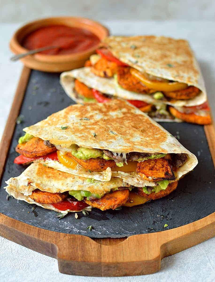 Loaded Veggie Quesadillas Domestic Gothess