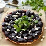 Baby beetroot and goat's cheese tarte tatin - sweet, tangy beetroot with cheddar puff pastry and creamy goats cheese.