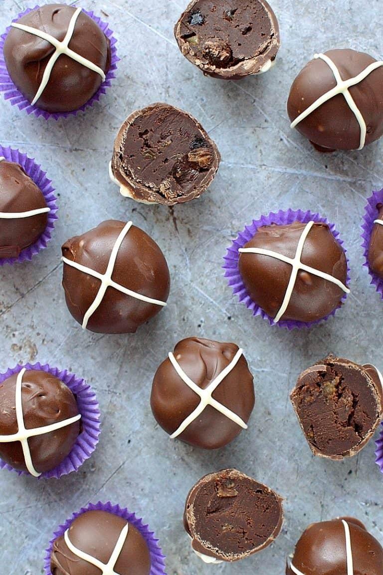 Hot Cross Bun Chocolate Truffles - Domestic Gothess