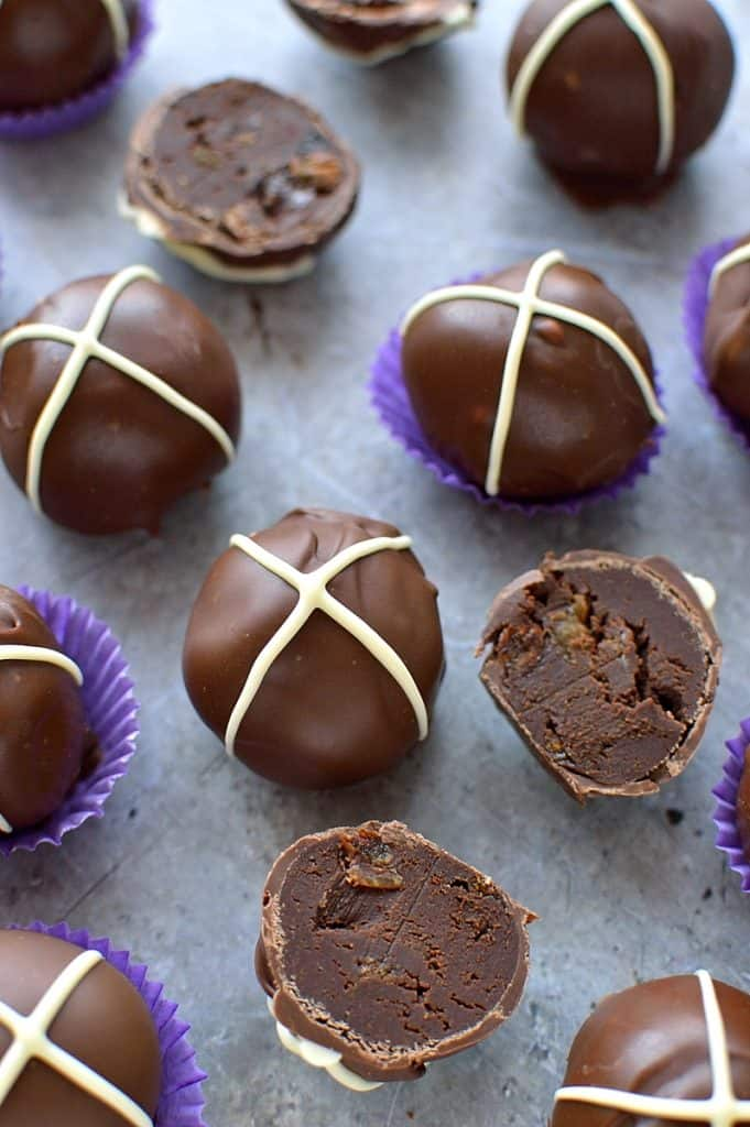 Hot cross bun truffles - Scrummy Lane