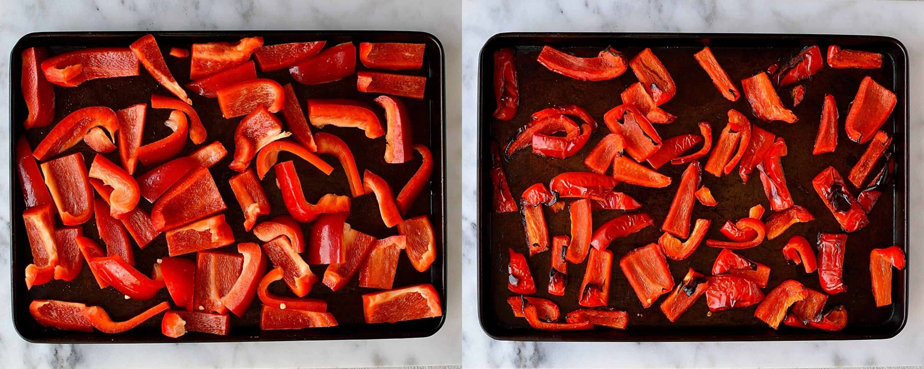 roasted red pepper and chilli hummus step 1