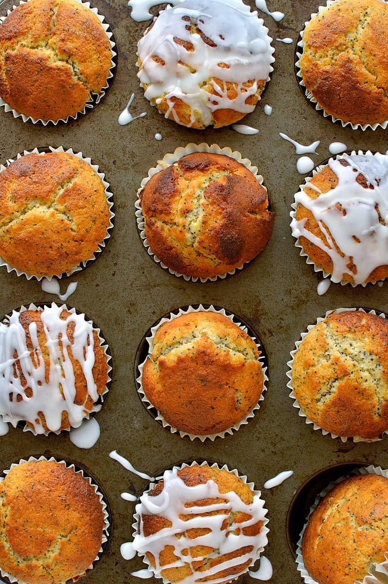 Lemon poppy seed muffins - easy to make and great for breakfast or lunchboxes.