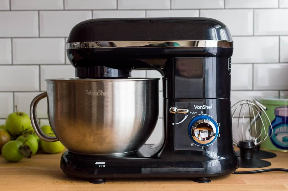 VonShef 1260W black stand mixer