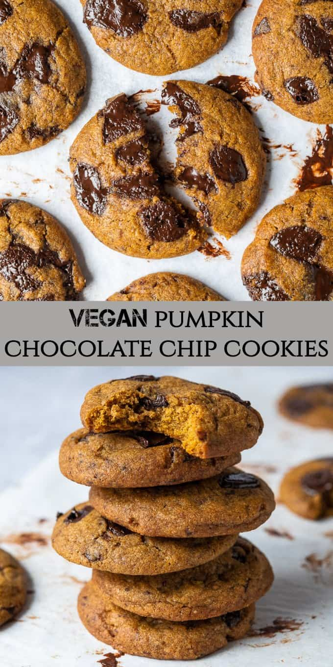 pumpkin chocolate chip cookies pinterest image